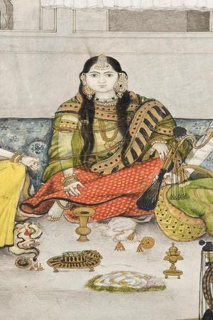 Detail from Group of Nautch Girls, 1800-25
