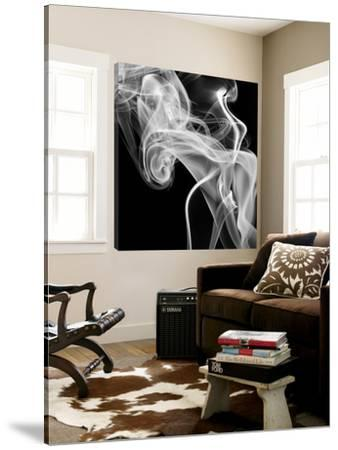 Black Smoke Abstract Square by GI ArtLab