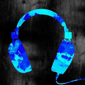 Blue Headphones by GI ArtLab