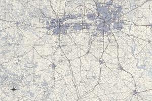 Dallas Map B by GI ArtLab