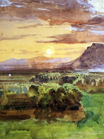 Sunset in Caserta, 1857