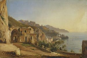 View of Amalfi from the Cave of the Capuchins, 1835 by Giacinto Gigante