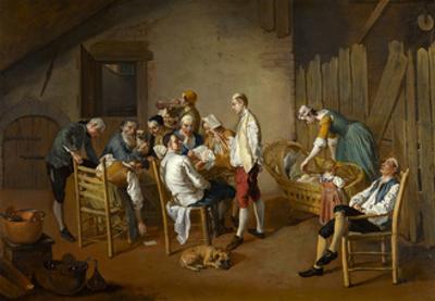 The Card Game, c.1738-1750 by Giacomo Ceruti