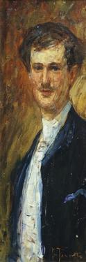 Portrait of Angelo Dall'Oca Bianca, Circa 1887 by Giacomo Favretto