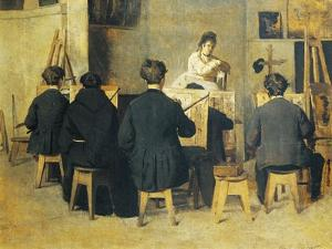 School of Painting, 1871 by Giacomo Favretto