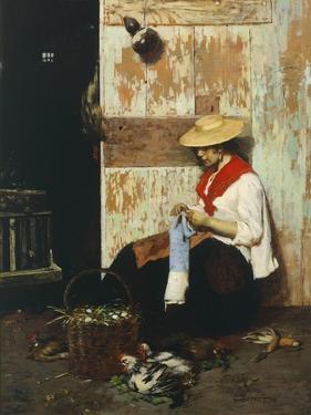 The Chicken Seller by Giacomo Favretto