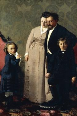 The Family Guidini, 1873 by Giacomo Favretto