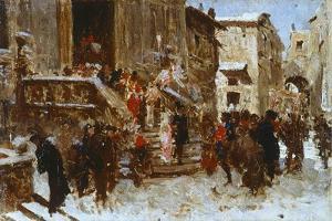 The Wedding by Giacomo Favretto
