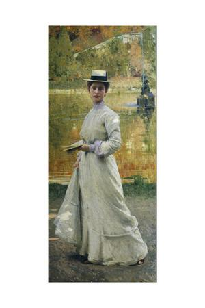 Open-Air Portrait or Lady in the Garden, 1902