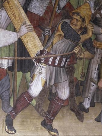 Road to Calvary, Detail from Fresco