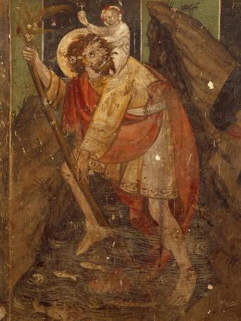St Christopher, Fresco