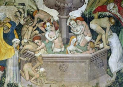 The Fountain of Life, Detail of Bathers in the Fountain, 1418-30