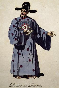 Costume Sketch for Doctor of Divan in Opera Turandot by Giacomo Puccini