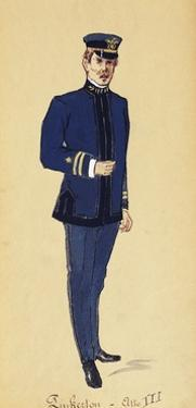 Costume Sketch for Role of Pinkerton in Opera Madame Butterfly, 1904 by Giacomo Puccini