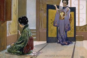 Postcard by Leopoldo Metlicovitz Created on Occasion of Premiere of Opera Madame Butterfly by Giacomo Puccini