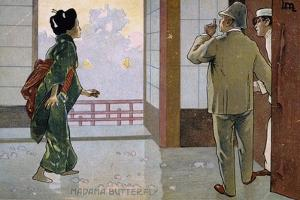 Postcard by Leopoldo Metlicovitz Created on Occasion of the Premiere of the Opera Madame Butterfly by Giacomo Puccini