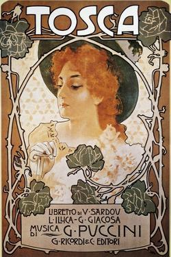 Poster for Tosca, Opera by Giacomo Puccini