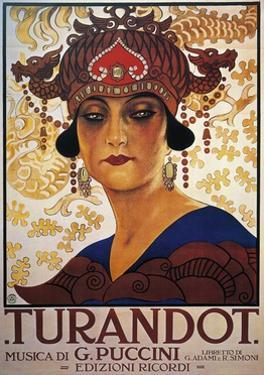 Poster for Turandot, Opera by Giacomo Puccini