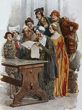 Print Depicting a Scene from Gianni Schicchi, 1922 by Giacomo Puccini