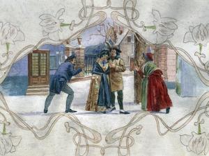 Scene from La Boheme, Opera by Giacomo Puccini