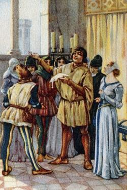 Vintage Picture Card Depicting Scene from the Opera Gianni Schicchi, 1918 by Giacomo Puccini