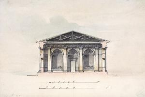 Cross-Section View of the Riding Stables at Tsarskoye Selo, 1792 by Giacomo Quarenghi
