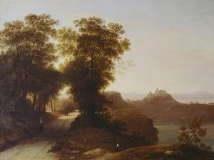 View of Gangolfo Castle, 1851 by Giambattista Bassi