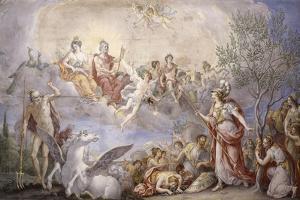 Quarrel Between Athena and Poseidon, 1787 by Giambattista Mengardi