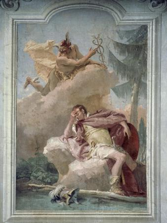 Mercury Appearing to Aeneas in Dream to Order Him to Go to Carthage
