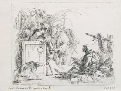 The Visit at the Death. from the Series ''Capriccios', Mid of the 18th C