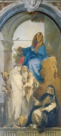 Virgin Appearing to St Catherine of Siena, Rosa of Lima and Agnes of Montepulciano