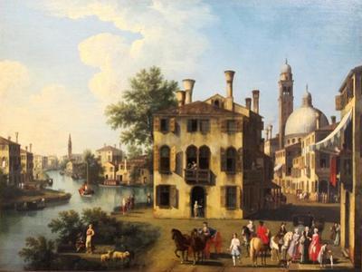 View of the Brenta, near Dolo, late 18th century by Gianbattista Cimaroli