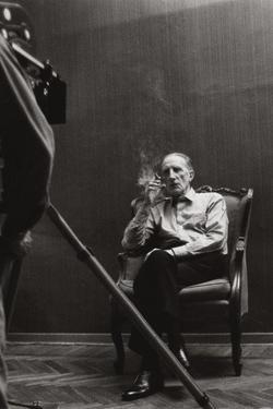 Marcel Duchamp and Gianfranco Baruchello on the Set of 'La Verifica Incerta' by Gianfranco Baruchello
