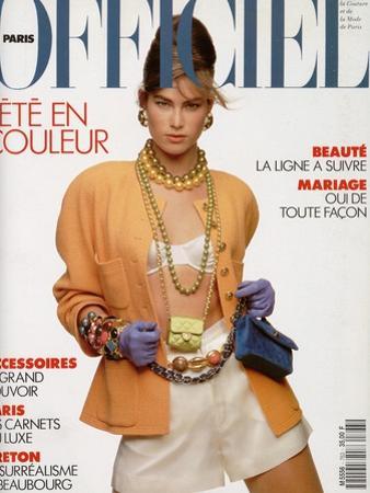 L'Officiel, April-May 1991 - Meghan Habillée Par Chanel Boutique