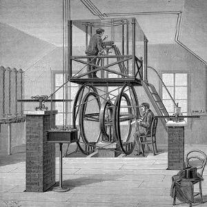 Giant Galvanometer in the Physics Laboratory, Cornell University, New York, USA, 1886