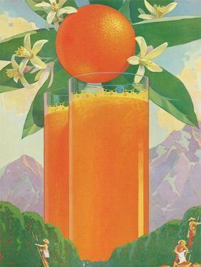 Giant Glass of Orange Juice