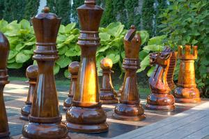 Giant Outdoors Chess Set Photo Poster