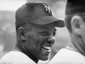 Giants Player, Willie Mays, Joking with Fellow Players During Warm-Up
