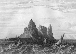 Gibraltar, 1857 by H Winkles