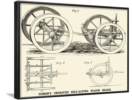 Gibson's Improved Self-Acting Wagon Brake--Framed Art Print