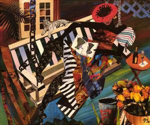 Woman on Porch Swing by Gigi Boldon