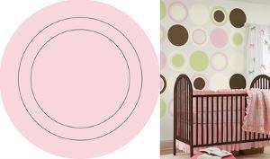 Gigi Pink Concentric Dot Wall Decal Sticker