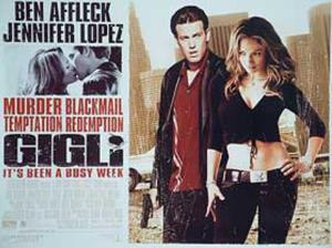 Gigli (Ben Affleck, Jennifer Lopez) Movie Poster