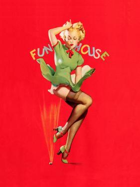Fun House Pin-Up, Thar She Blows 1939 by Gil Elvgren