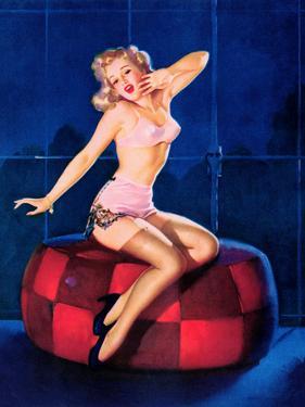 Sleepy-Time Girl Pin-Up c1940s by Gil Elvgren