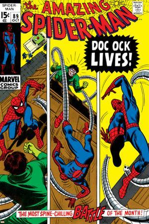 Amazing Spider-Man No.89 Cover: Spider-Man and Doctor Octopus by Gil Kane