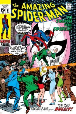 Amazing Spider-Man No.91 Cover: Spider-Man Fighting by Gil Kane