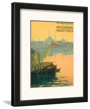 Istambul Messageries Maritimes c.1925 by Gilbert Galland