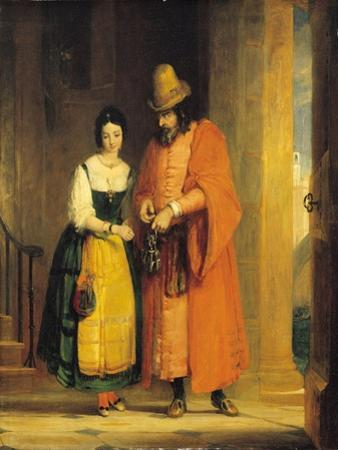 Shylock and Jessica from 'The Merchant of Venice', Act II, Scene II, 1830