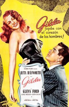 Gilda, Argentine Poster Art, Rita Hayworth, Glenn Ford, 1946